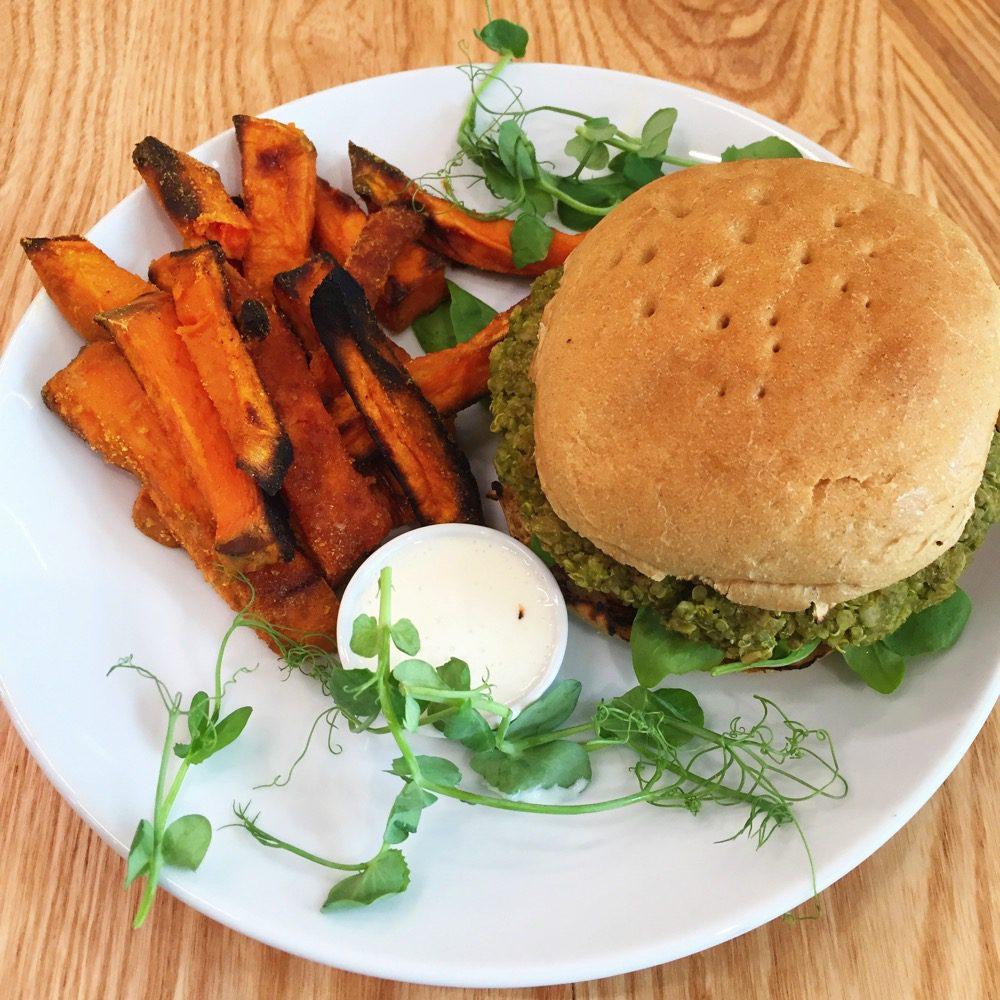 Naked deli gosforth quinoa burger