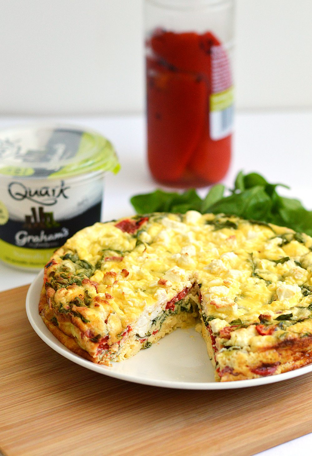 Spinach Quiche + Roasted Red Pepper, Feta, and Quark | 19 Quick Breakfast Ideas