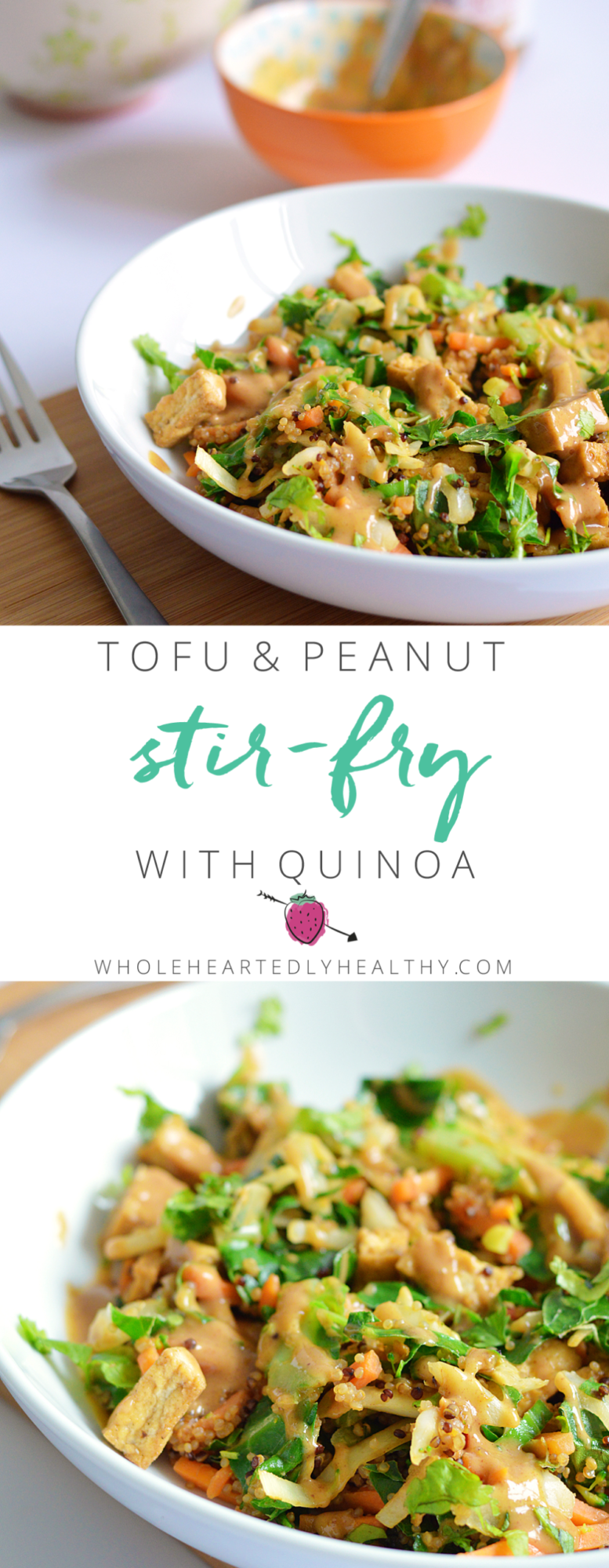 Tofu and peanut stir fry