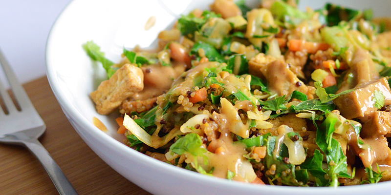 Quick midweek meal: Tofu and Peanut Stir Fry with Quinoa