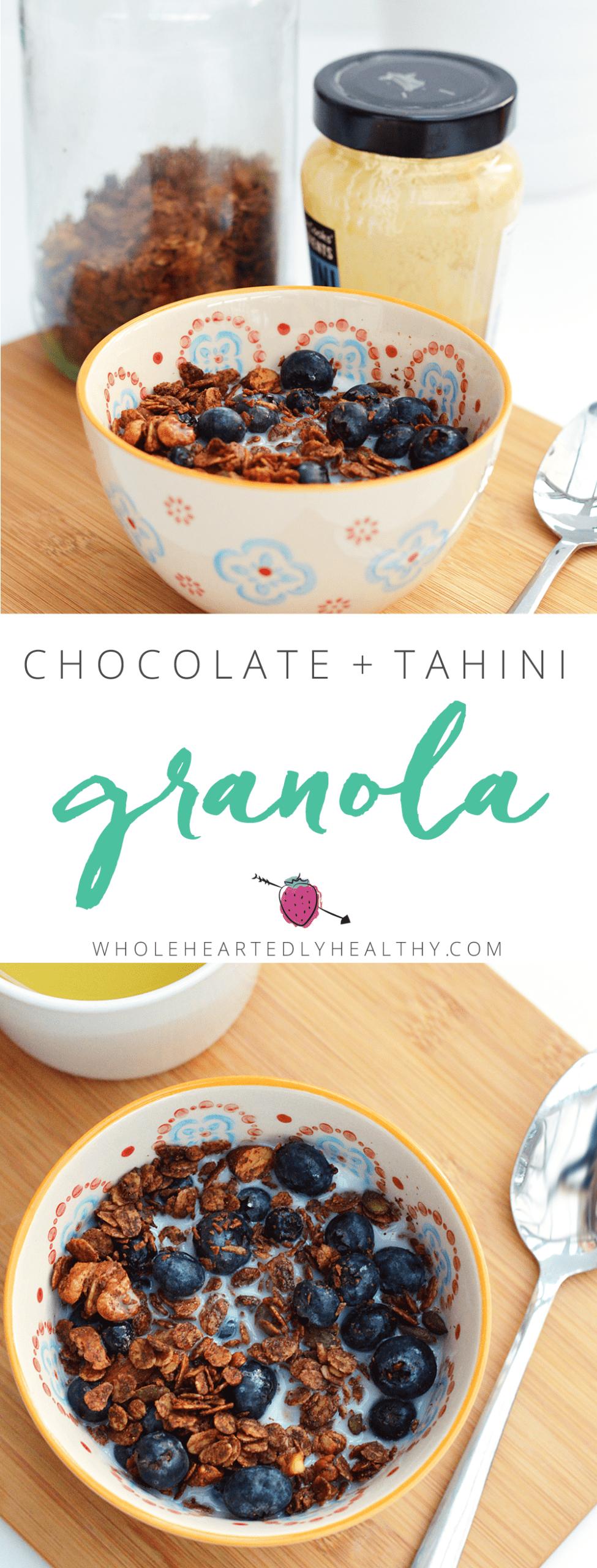 Chocolate and tahini granola
