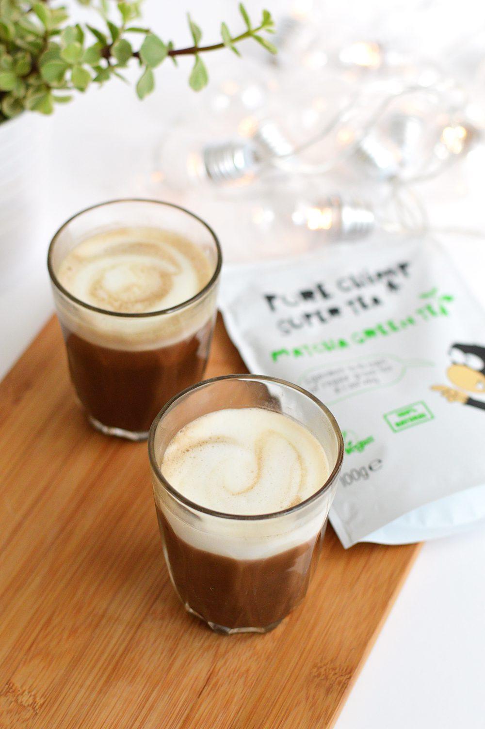 Matcha peppermint cocoa latte 1