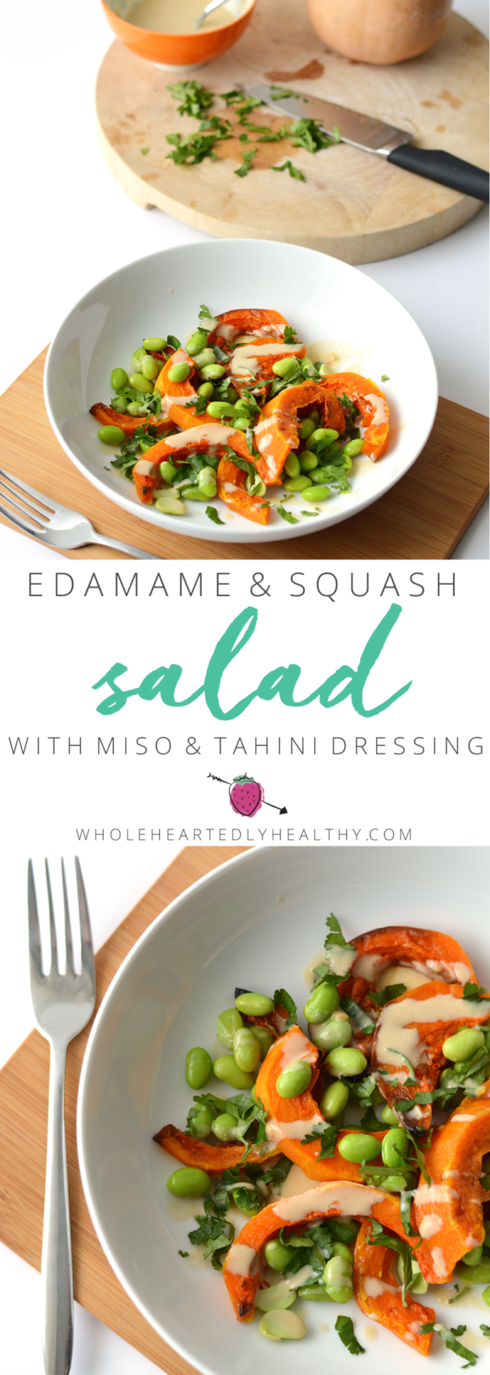 squash and edamame salad