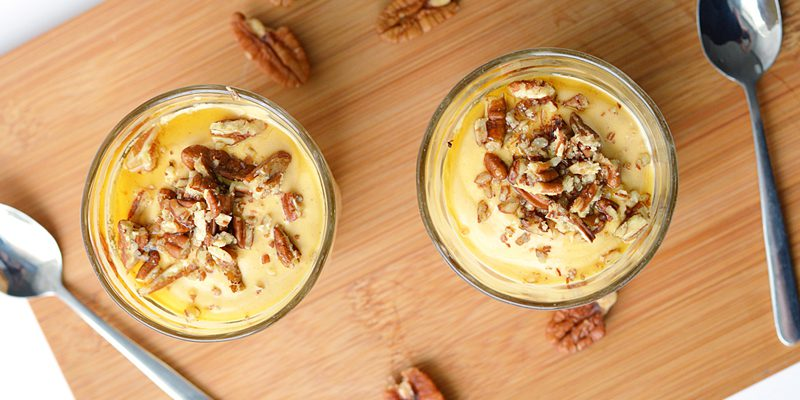 Pecan Pumpkin Pudding with Graham's The Family Dairy Quark