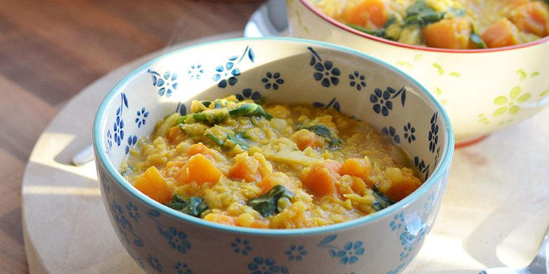 Indian Butternut and Lentil Stew