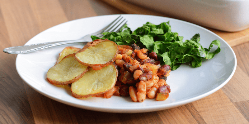 Bean + Vegetable Potato Pie