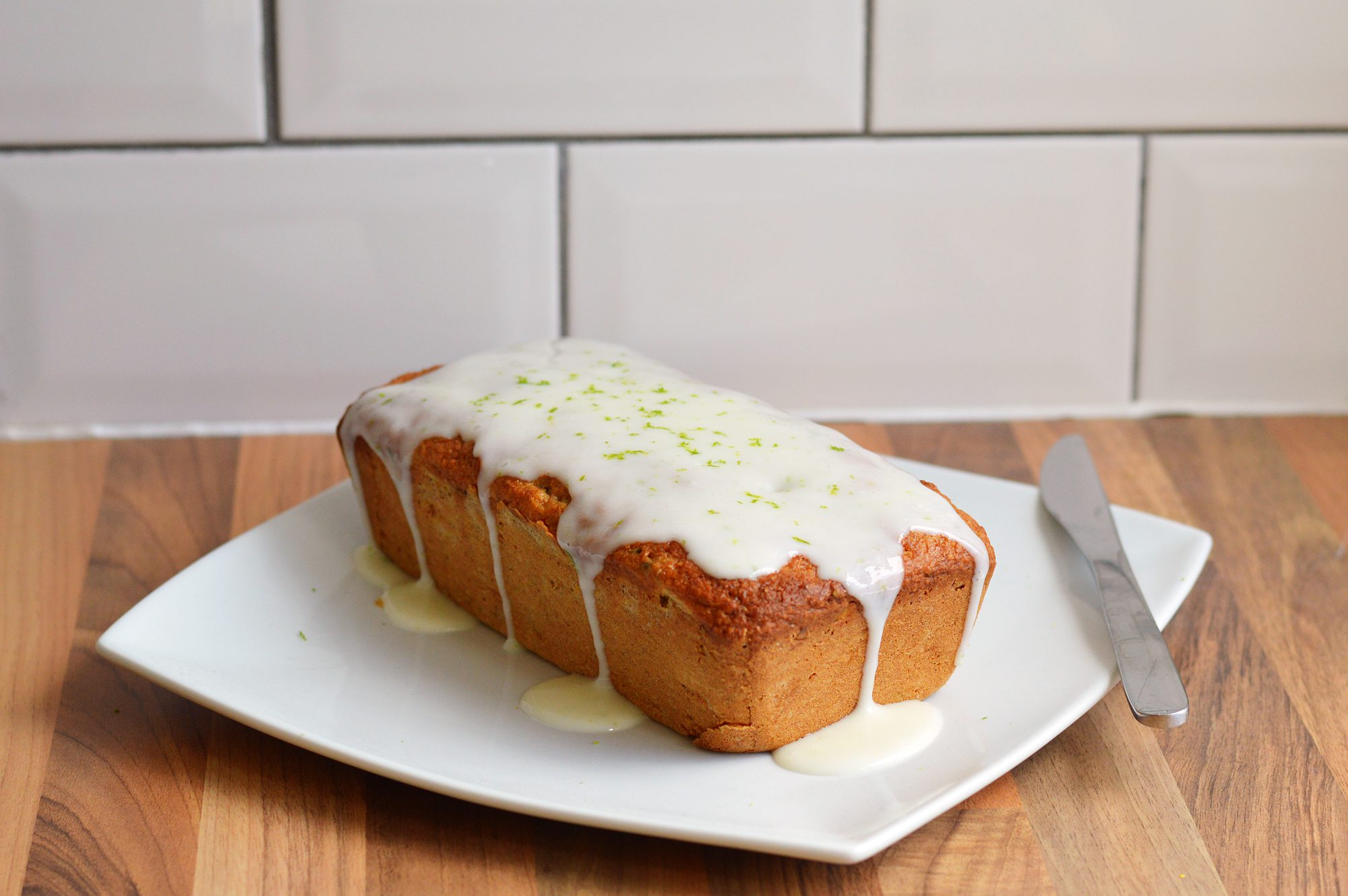 Courgette, Lime & Pistachio Loaf Cake