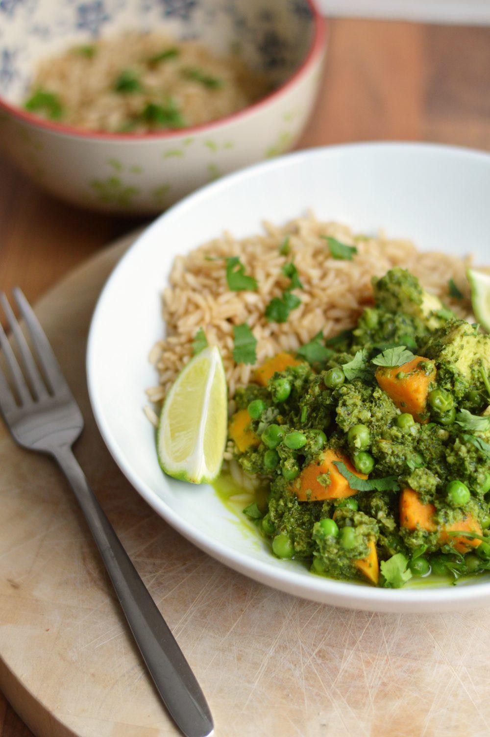 Goan Green Chicken Curry